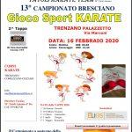 Seconda tappa del trofeo bresciano gioco sport karate